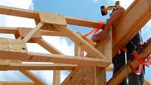 one man roof truss raising youtube With 60 foot trusses