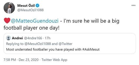 Arsenal's Mesut Ozil mentions Wenger, Ramsey and Guendouzi ...