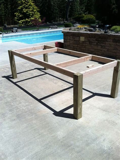 homemade ping pong table building my own outdoor wood farm table craft ideas