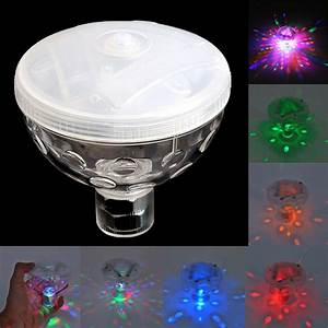 Color Changing Floating Pool Lights 4 Led Floating Underwater Disco Light Glow Show Swimming