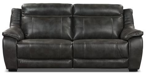 The Brick Leather Sofa by Novo Leather Look Fabric Sofa Grey The Brick