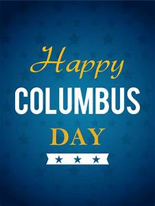 Columbus Day Cards 2019  Happy Columbus Day Greetings 2019