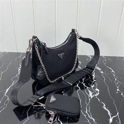 prada  edition  nylon shoulder bag black