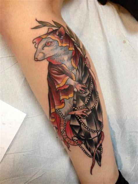 tatuaz lydka mysz diament przez scapegoat tattoo