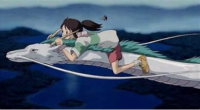 Away Spirited Giphy Gifs Ghibli Studio Animated