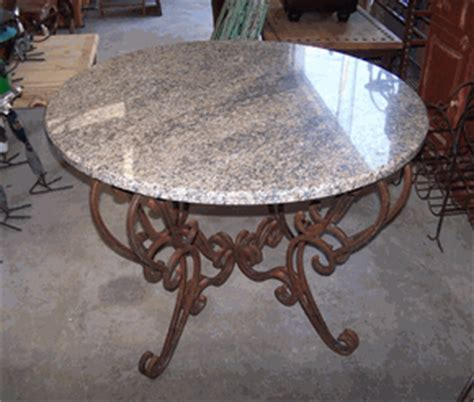 heavy wrought iron dining table base only shown w
