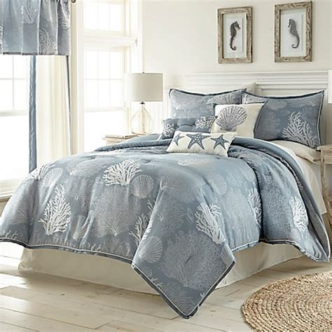 buy siesta key 6 piece twin comforter set in blue from bed