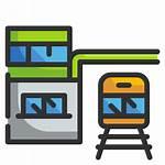 Train Station Icon Subway Icons Transportation Architecture
