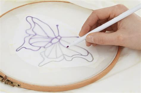 methods  marking  transferring embroidery patterns