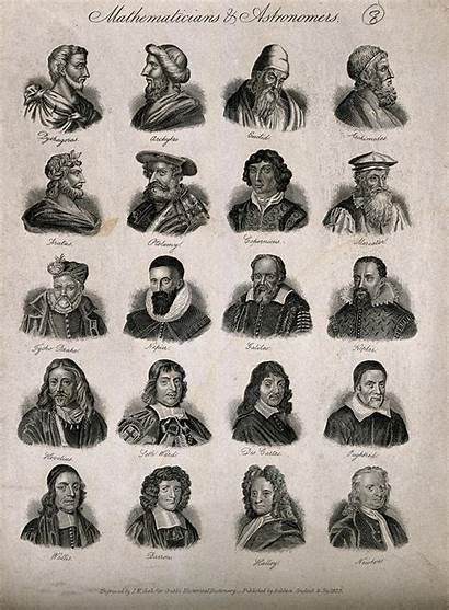 Mathematicians Famous Astronomers Twenty Engraving Portraits Wellcome