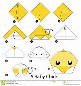 Faire Des Origami : instructions tape par tape comment faire origami un poussin de b b illustration de vecteur ~ Nature-et-papiers.com Idées de Décoration