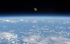 Earth and Moon seen from the International Space Station ...