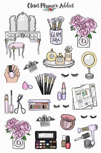 Babe Stickers Makeup Sticker Planner Printable Doodles
