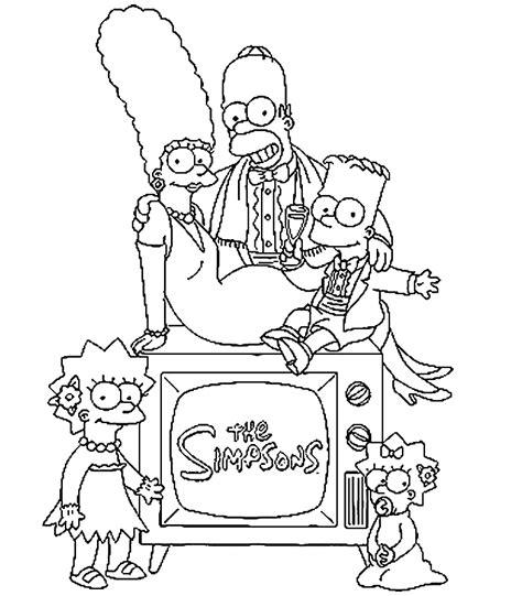 De Simpsons Kleurplaten by Coloriage 224 Imprimer