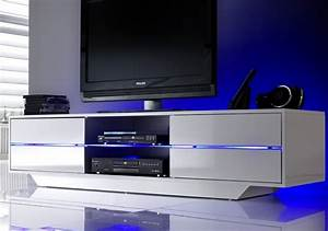 Meuble Tv Led Conforama : meuble tv blanc led ~ Dailycaller-alerts.com Idées de Décoration