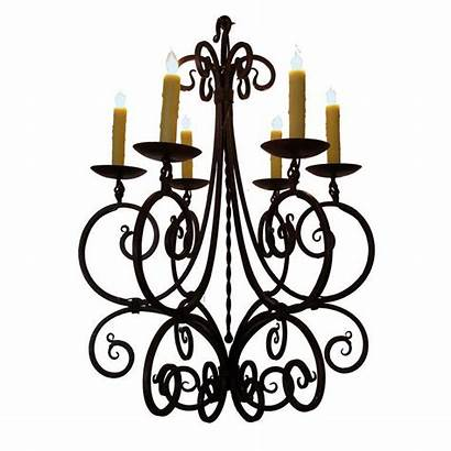 French 1stdibs Chandelier Wrought Iron Epoca Gracefully