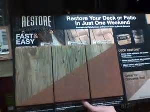 restore liquid armor deck resurfacer home depot youtube