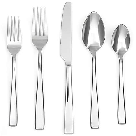 cambridge flatware mirror logan silversmiths service piece sets bedbathandbeyond beyond bath bed amazon