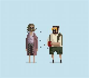 Animated GIF Pixel Art Depicting Famous Movie and Comic ...