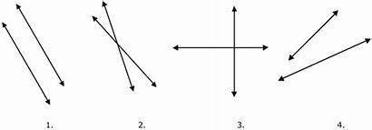 Lines Parallel Pairs Perpendicular Intersecting Pair Angles