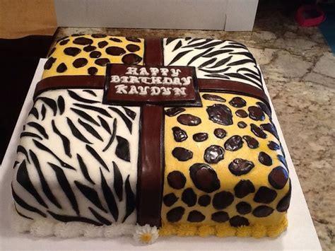 animal print cake cakecentralcom