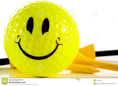 Golf Ball On Tee Wallpaper Smiley Face Golf Ball On White Background Stock Photo Image 1979850