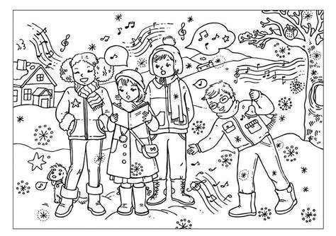 Zingen Kleurplaat by Kleurplaat Zingen In De Winter Fijne Motoriek