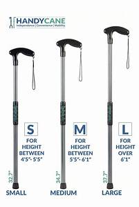 Handy Cane  Size Medium  Length 34 7 U0026quot  For Height Between 5