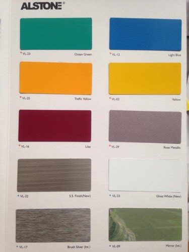 plain colours multiple options acp sheet alstone thickness  mm rs  square feet id
