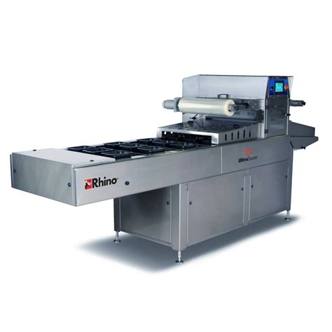 rhino 10 automatic tray sealing machine with map modified atmosphere packaging capabilities