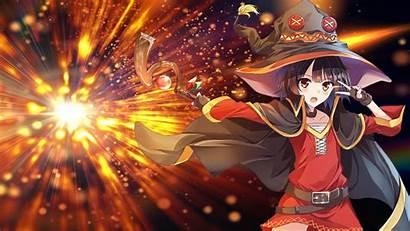 Megumin Anime Konosuba Wallpapers Blessing Wonderful Backgrounds