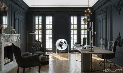 Black Parisian Interior Design Home Office the black parisian interior design for home office decoholic