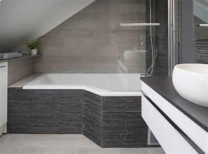 carrelage salle de bain marron et vert With plan salle de bain sous comble