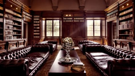 elegant leather furniture luxury home library  library style home interior designs