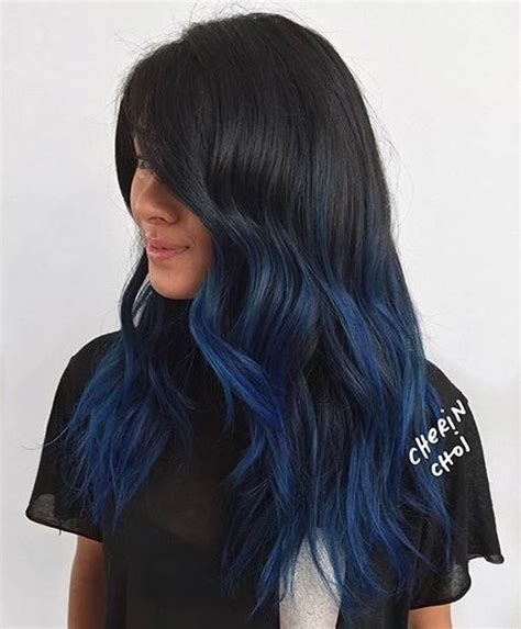 Navy Blue Lowlights by 1000 Ideas About Blue Hair Highlights On