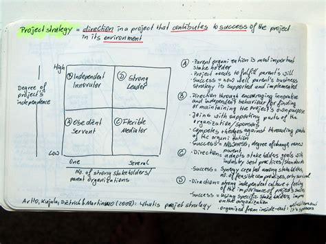 what is project strategy artto k kujala j dietrich