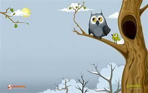 1680x1050 Owl in the spring desktop PC a... : 【幸福を呼び込む縁起鳥 ...
