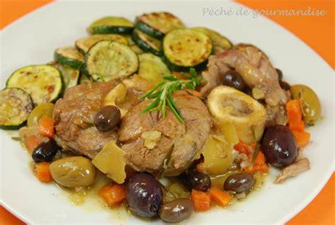 cuisiner le jarret de veau jarret de veau aux citrons confits et aux olives péché