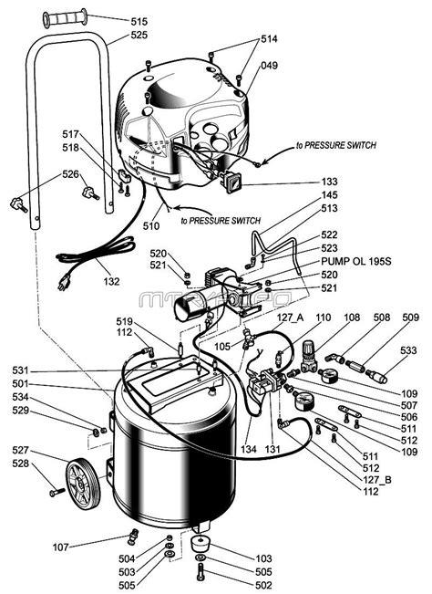 Husky H1512FWK Air Compressor Parts