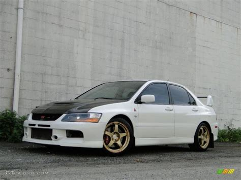 mitsubishi evolution 2005 2005 wicked white mitsubishi lancer evolution mr 30036318