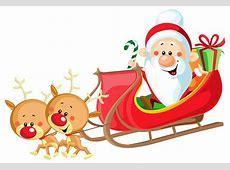 Christmas Reindeer And Santa Clipart