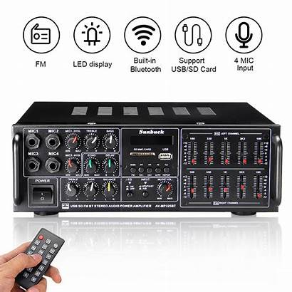 Stereo Input Receiver Amplifier Power Channel Microphone