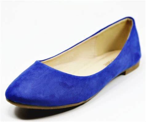 women casual suede ballet flat shoes size
