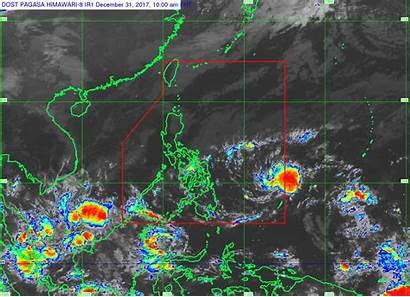 Pressure Low Area Rainy Seen Cbn Satellite