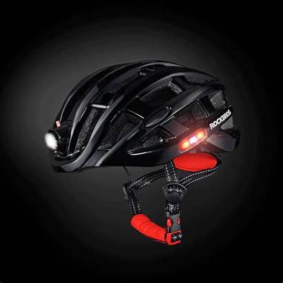 Helmet Bike Cycling Rockbros Prosafety Lights Integrated