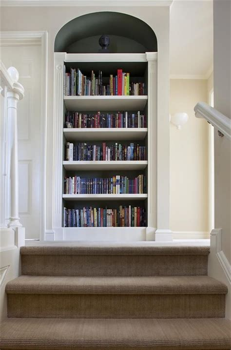 upstairs built  bookcase