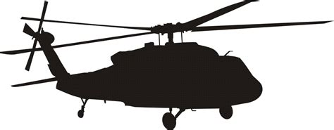 Blackhawk Helicopter Silhouette | Clipart Panda - Free ...