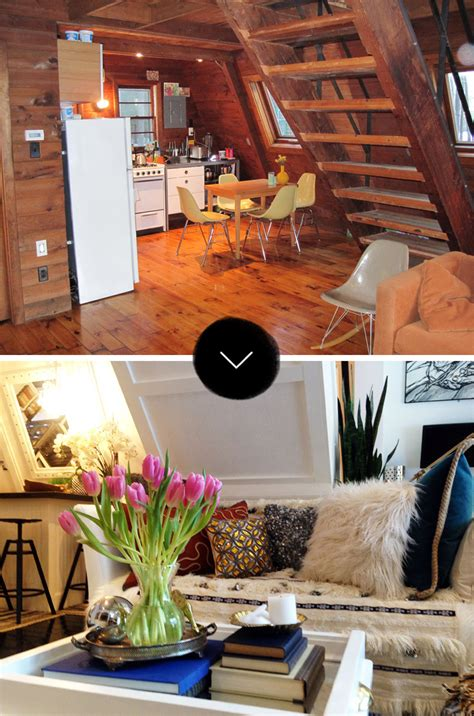 Paint Ideas For Open Living Room And Kitchen - before after an a frame cottage gets an a renovation design sponge