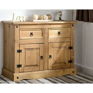 Corona Mexican Pine Sideboard by Corona 2 Door 2 Drawer Sideboard Distressed Waxed Pine