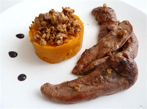 cuisiner aiguillettes de canard aiguillettes de canard caramélisées purée de potimarron